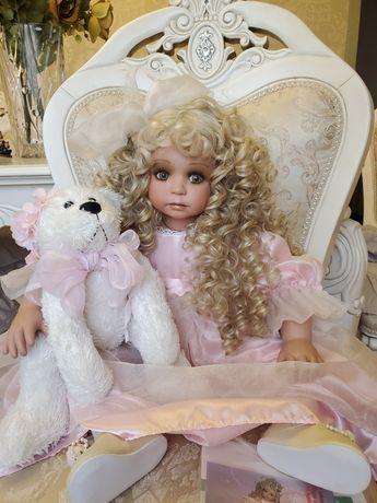 фарфоровая коллекционная кукла от Линды  Рик Linda Rick