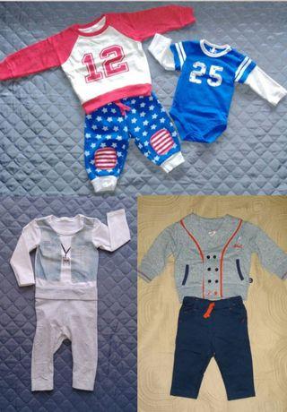 Zestaw komplet body leginsy spodnie bluza h&m 51015 coccodrillo roz.68
