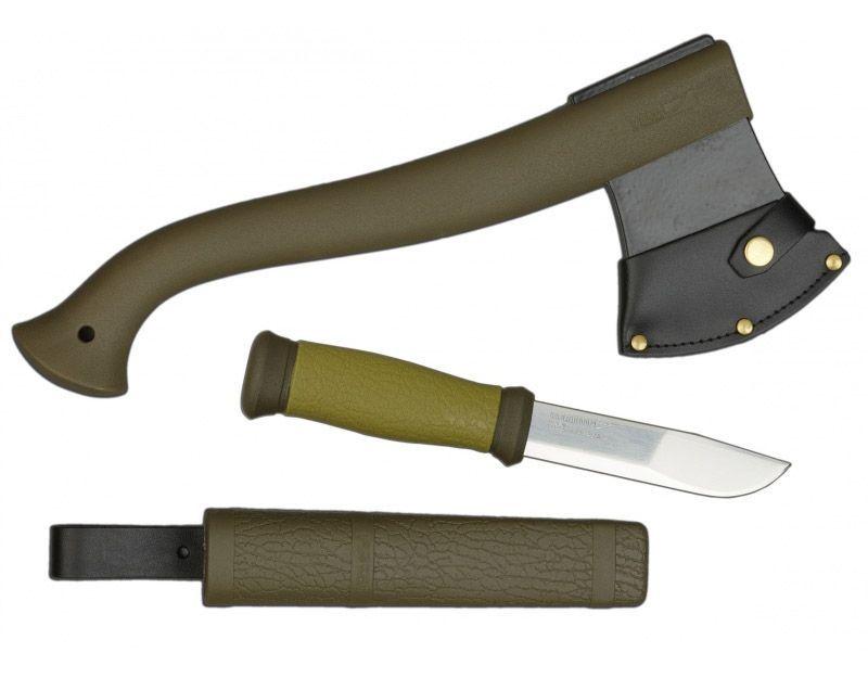 Noż i toporek Mora Morakniv zestaw na prezent