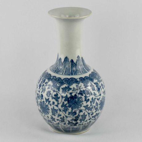Jarra bojuda porcelana da China, decoração Azul e Branco