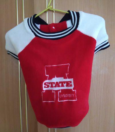 ubranko / ubranie, bluza czerwono-biala dla psa