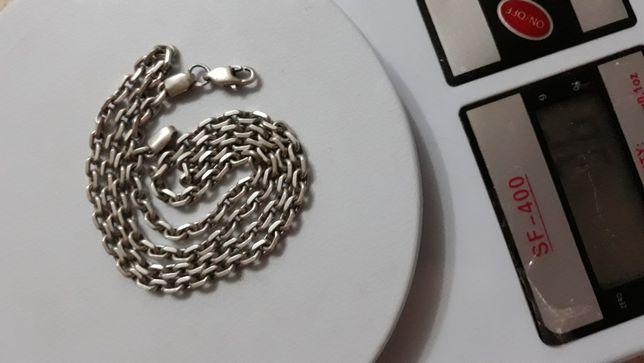 Серебро якорь, цепочка, браслет