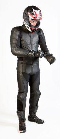 Kombinezon skórzany na motor ścigacz motocyklowy,skóra,garb Ozone