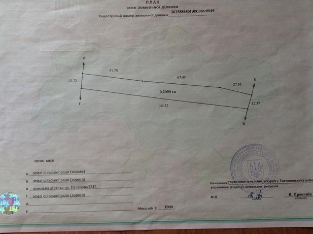Продаж земельна ділянка в с. Верхній Угринів