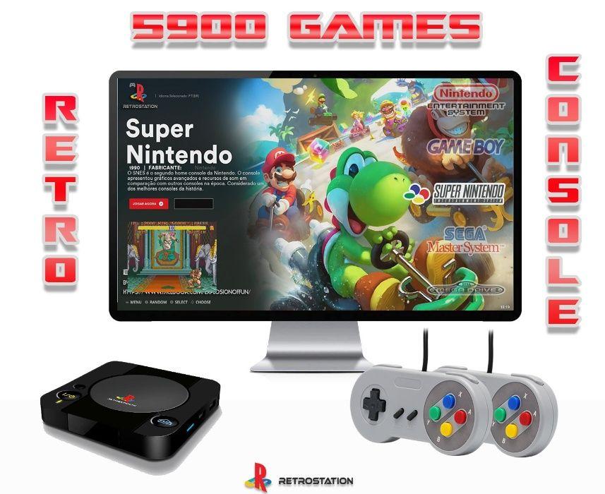 Pack Económico Consola Retro com 5920 Jogos Retro | Consola Android | Rio de Mouro - imagem 1