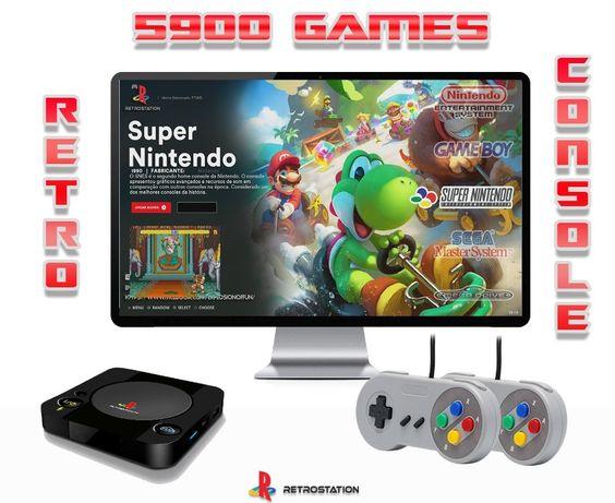 Pack Económico Consola Retro com 5920 Jogos Retro | Consola Android |