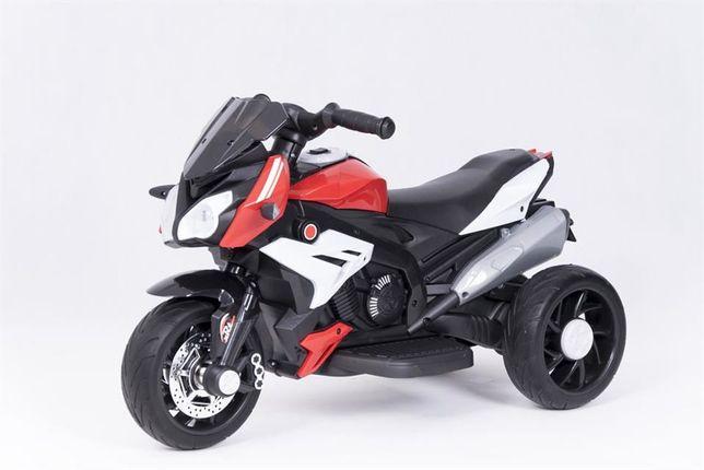 Sportowy motor na akumulator dla dziecka biały