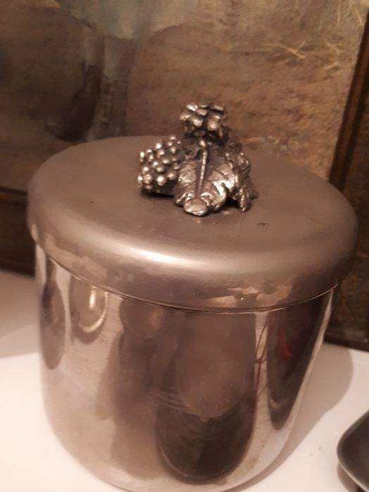 Lindissima Caixa/Pote em Casquinha e Bronze- Vintage Algés, Linda-A-Velha E Cruz Quebrada-Dafundo - imagem 1