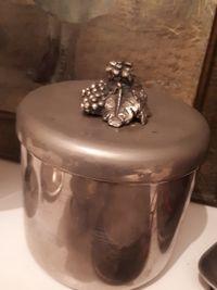 Lindissima Caixa/Pote em Casquinha e Bronze- Vintage
