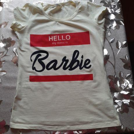 Koszulka t-shirt z napisem Jestem Barbie s m bawełna