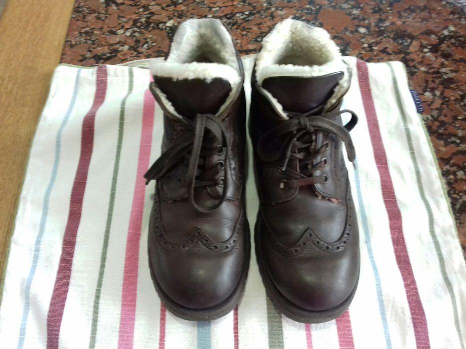 Продам зимние кожанные ботинки на мальчика р 37 Донецк - изображение 1