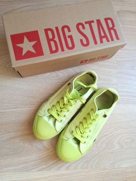 Trampki 39 Big Star żółte zielone odblaskowe szkolne buty