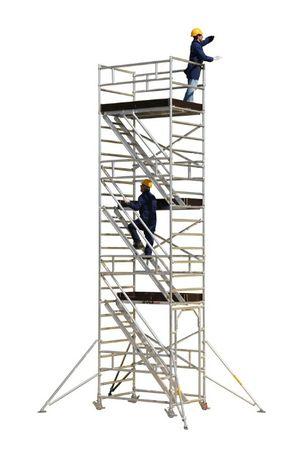 Andaimes de Alumínio Móveis com Rodas com Certificado até 10 metros