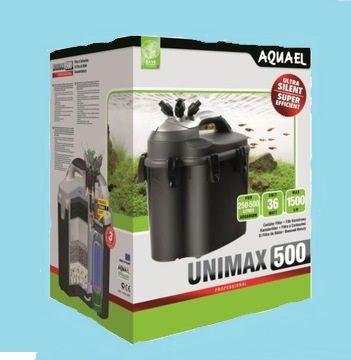 Filtr zewnętrzny Aquael Unimax 500 plus komplet niezbędnych wkładów. D
