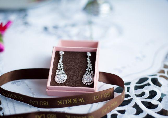 Kolczyki Ślubne Piękne
