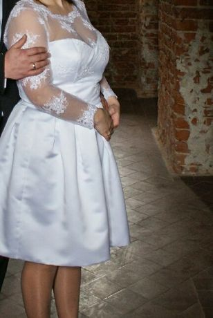 Suknia ślubna l/xl Zadbana buciki do sukienki rowniez tanio Polecam