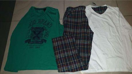 Nowa piżamka męska rozmiar M z 2 koszulkami