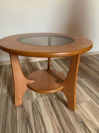 Stolik kawowy okrągły z szybą