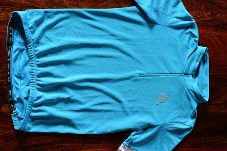 Koszulka rowerowa Odlo Breeze Stand Up Collar S/S 1/2 Zip - rozmiar S