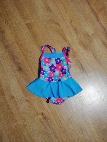 Strój kąpielowy kostium dziewczynka sukienka 74 80 nowy