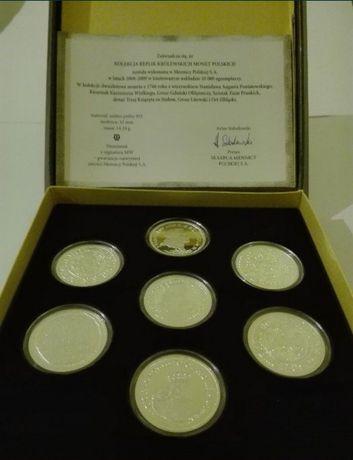 Kolekcja replik krolewskich monet  polskich