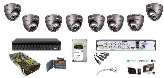zestaw 4-16 kamery do monitoringu 5mpx UHD montaż kamer Białobrzegi
