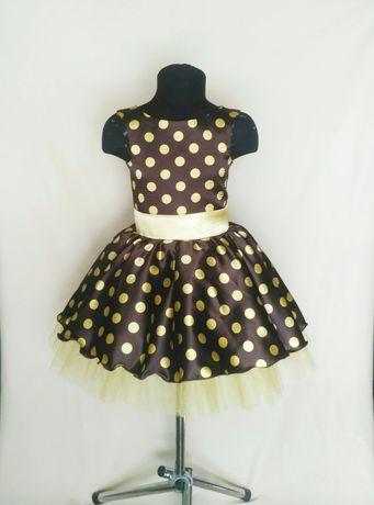 Детское ретро платье. Платье в горох. Стиляги. Выпускное платье