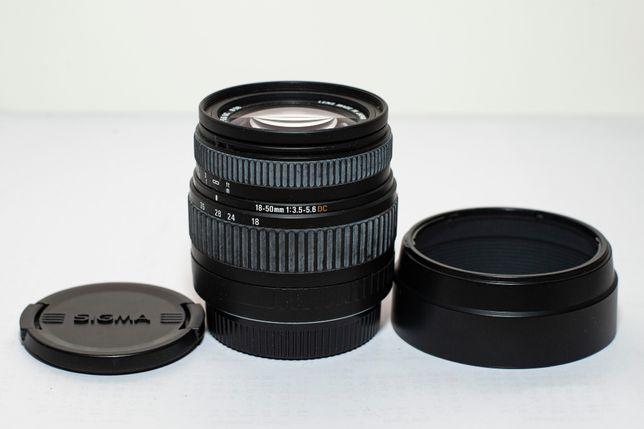 obiektyw Sigma 18-50 mm do Canona zoom