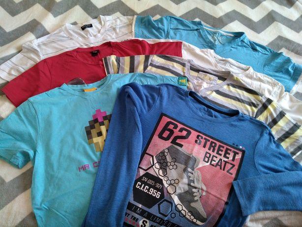 6 koszulek + 164 cm, spodenki + 1 szt.długi rękaw