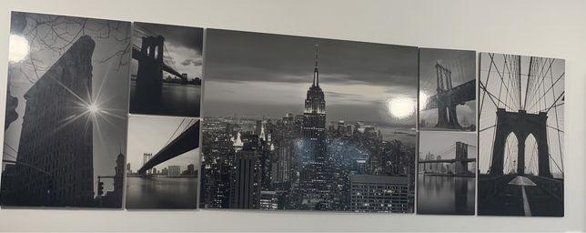 Obrazki ścienne IKEA New York Czarno-białe