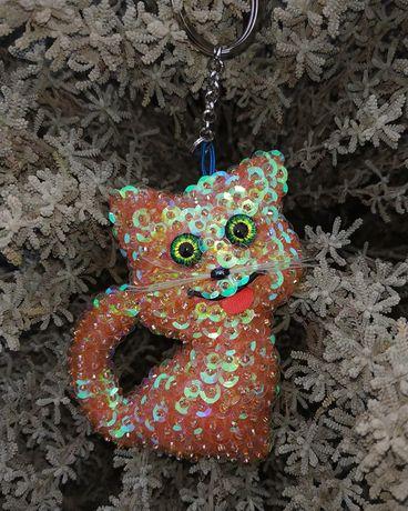 Кот брелок handmade