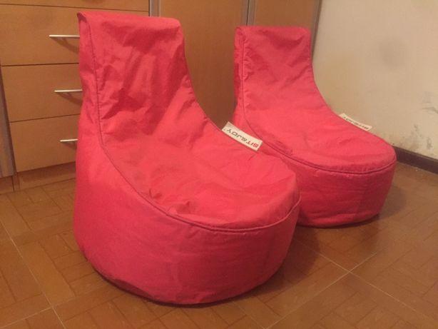 Puffs (2) cor de rosa material resistente e lalável