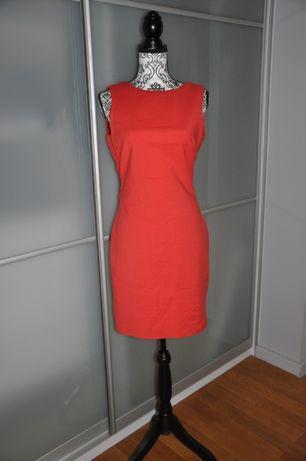 Czerwona koktajlowa sukienka Zara M