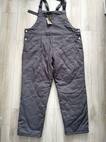 Nowe spodnie ocieplane ogrodniczki robocze męskie