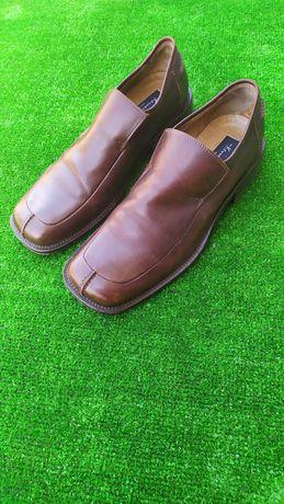Кожаные мужские туфли размер 9 1/2 шкіряні чоловічі туфлі
