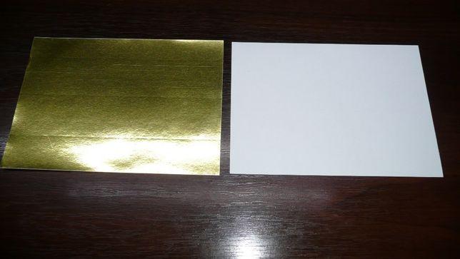 Бумага самоклейка золотая (золото) металлизированная, этикетки 20шт
