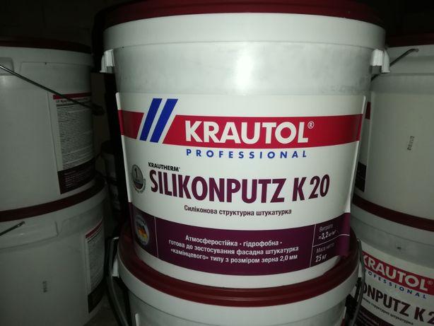 Штукатурка силіконова(барашек) Krautherm Silikonputz K20 25KG