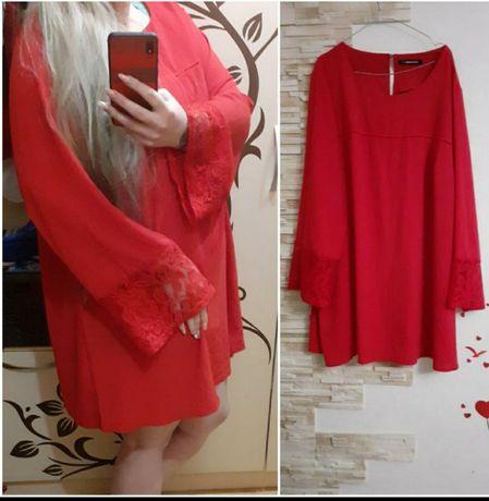 Чудеснее фирменное красное платье большой розмер So Fabulous
