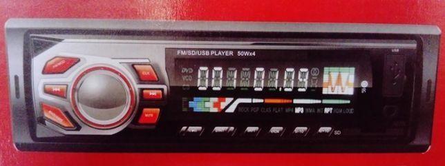 Radio samochodowe USB SD TF FM AUX + Pilot 4x50W NOWE F.VAT