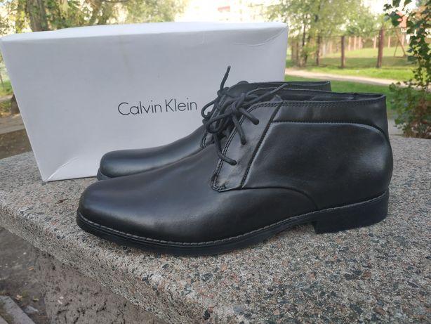 Calvin Klein оригинал ботинки туфли натуральная кожа р.43