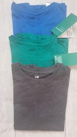 Top dżersejowy 3pack firmy H&M rozmiar 122-128