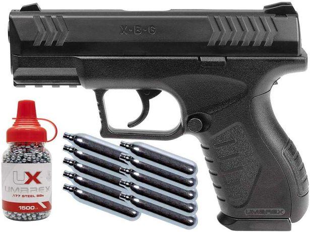 Mocna Wiatrówka Pistolet karabin UMAREX X PRO 4,5 ZESTAW CO2 BB ASG