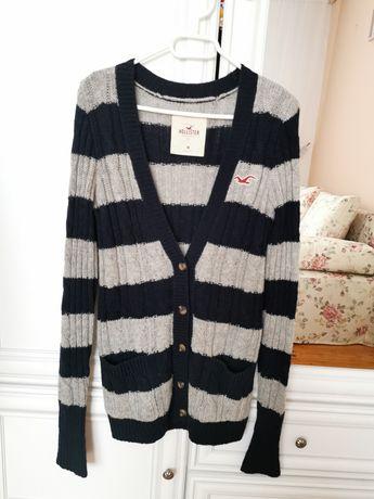 Nowy sweter Hollister S/M wełna kardigan
