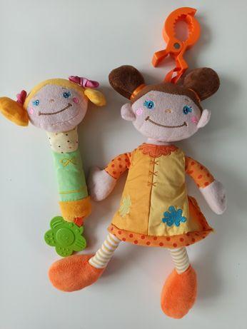 Lalka pozytywka Babyono + Lalka z gryzakiem