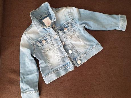 Kurtka jeansowa, bluza, katana r.80