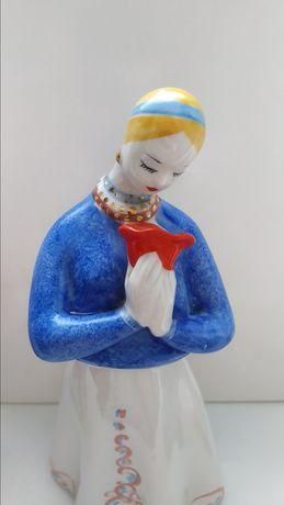 Фарфоровая статуэтка Аленький цветочек, девушка СССР