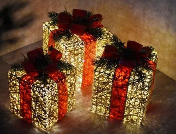 Гирлянда подарки Новый год дед мороз санта