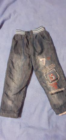 Зимние утеплённые  штаны размер 104