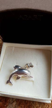 Przywieszka srebrna delfin