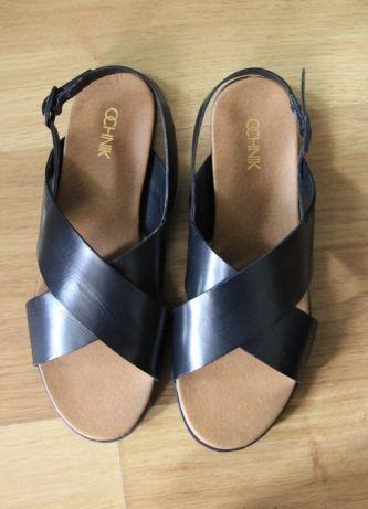 OCHNIK sandałki buty czarne 39 damskie sandalki czolenka klapki